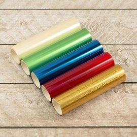 BASTELZUBEHÖR, WERKZEUG UND AUFBEWAHRUNG Foil Me warmte-geactiveerd foliepakket, 5 stuks, elk 125 mm x 5 m!