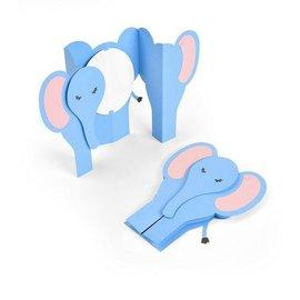 Snijmallen, Sjablonen  voor ponsen met een stansmachine: Card Elephant Fold