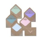 sizzix Plantillas de corte,  para punzonar con una punzonadora y creativa : Envelope Liners  Intricate 663586