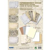 Karten und Scrapbooking Papier, Papier blöcke Card board, assortment Vintage, stone plaster Vintage, white / beige