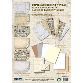 Karten und Scrapbooking Papier, Papier blöcke Kortkort, sortiment Vintage, stengips Vintage, hvid / beige