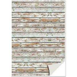 REDDY 1x boîte à cartes aspect bois, planches en bois