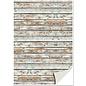REDDY Exclusief designpapier met houtlook, houten planken, dubbelzijdig bedrukt karton met reliëfdruk 250g Kwaliteitsformaat: 24 x 34cm.