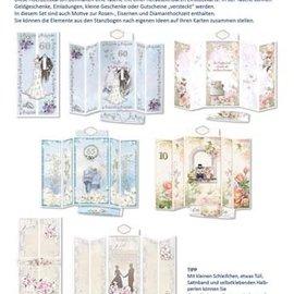 BASTELSETS / CRAFT KITS Card Set Wedding Cards Complete for 5 Folding Cards