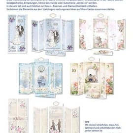 BASTELSETS / CRAFT KITS Kartenset Hochzeitskarten Komplett für 5 Faltkarten