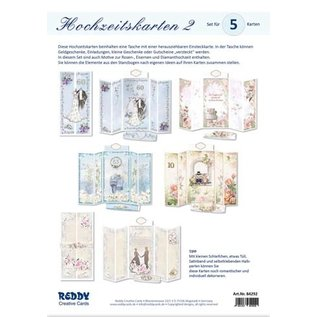 BASTELSETS / CRAFT KITS For the design of 5 magical folding cards, theme wedding