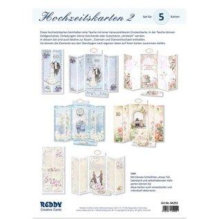BASTELSETS / CRAFT KITS Voor het ontwerp van 5 magische vouwkaarten, themahuwelijk