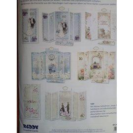 BASTELSETS / CRAFT KITS Kortsett Bryllupskort Komplett for 5 Folding Cards
