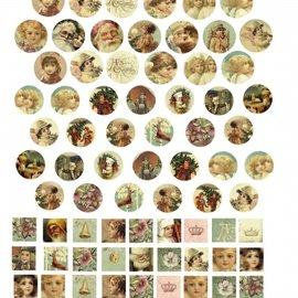 """Embellishments / Verzierungen Papier céramique LaBlanche """"Cabochons Dorés"""""""