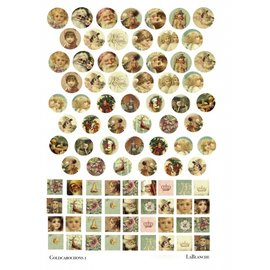 "Embellishments / Verzierungen LaBlanche ceramic paper ""Gold Cabochons"""