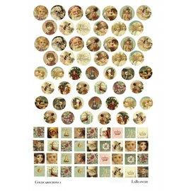 """Embellishments / Verzierungen LaBlanche keramisch papier """"Gouden cabochons"""""""