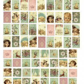 "Embellishments / Verzierungen LaBlanche ceramic paper ""Goldcabochons"""