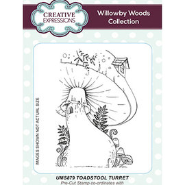 CREATIVE EXPRESSIONS und COUTURE CREATIONS Stamp, A6, Toadstool Turret
