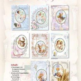 BASTELSETS / CRAFT KITS Set di carte artigianali, per 12 biglietti per neonati / compleanni! 12 carte doppie quadrate formato 110 x 110 cm - Copy