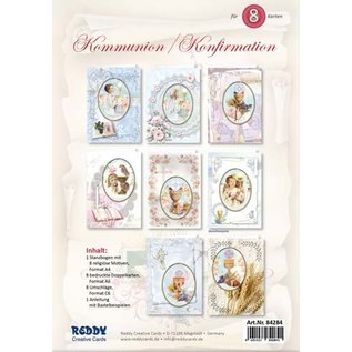 BASTELSETS / CRAFT KITS Craft card set, for 8 communion / confirmation invitation cards!