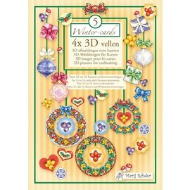 BASTELSETS / CRAFT KITS Marij Rahder Winter 4x 3D illustrations for maps