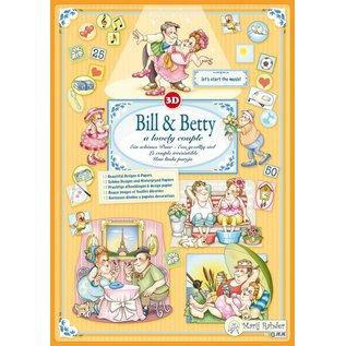 "BASTELSETS / CRAFT KITS Marij Rahder 3D Decoupage Bill & Betty, ""A Lovely Couple"""