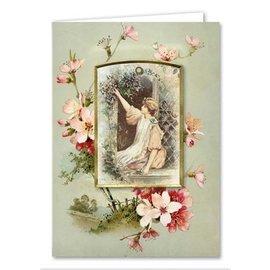 BASTELSETS / CRAFT KITS Kortsett, viktorianske gratulasjonskort, komplett for 8 kort!