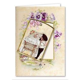 BASTELSETS / CRAFT KITS Jeu de cartes, cartes de souhaits victoriennes, complètes pour 8 cartes!