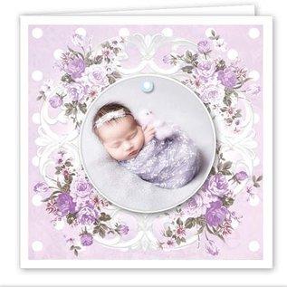 REDDY Craft Card Set, voor 12 baby / verjaardagskaarten! 12 vierkante dubbele kaarten van 110 x 110 cm
