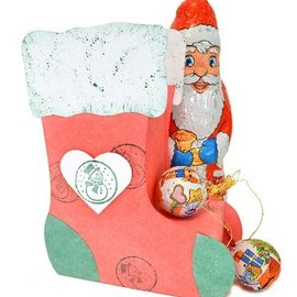 Dutch DooBaDoo Art Template: calza natalizia 3D, 13x17x6cm