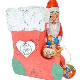 Dutch DooBaDoo Kunst Schablone:  3D Weihnachts-Strumpf, 13x17x6cm