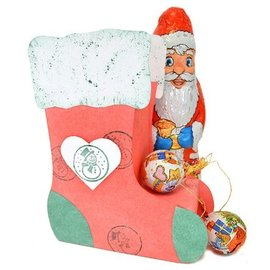 VIVA DEKOR (MY PAPERWORLD) Kunst Schablone 30,5 x 30,5cm:  3D Weihnachts-Strumpf, 13x17x6cm