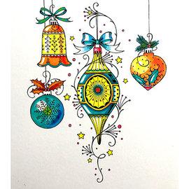 CREATIVE EXPRESSIONS und COUTURE CREATIONS Timbro, A5, Weihnachtskügel, incantevole bellezza!