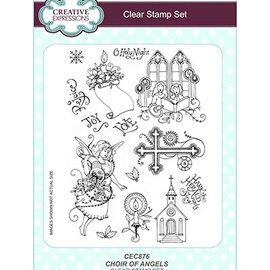 Stempel / Stamp: Transparent Frimærke, A5, engel