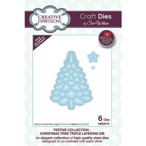 CREATIVE EXPRESSIONS und COUTURE CREATIONS Creative Expressions, Cutting dies, for punching with the punching machine. The punched out motifs can be designed on cards, scrapbooks, albums, crafts for Christmas and much more.
