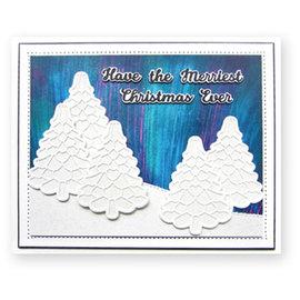 CREATIVE EXPRESSIONS und COUTURE CREATIONS Plantillas de corte,  Christmas Tree Triple Layering
