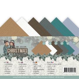 Karten und Scrapbooking Papier, Papier blöcke Kaart- en plakboekpapier, linnenpakket, A5, 24 vellen in zes verschillende kleuren.