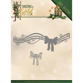 AMY DESIGN Stansning skabelon, Stansemal, Christmas Bow