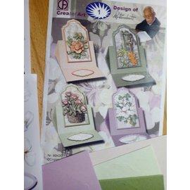 Cards Bastelset Aufstellkarten, pour la conception de 4 jolies cartes!