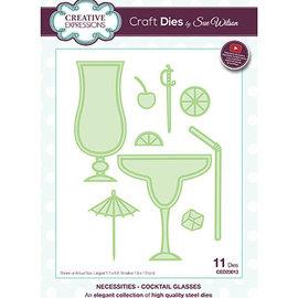 CREATIVE EXPRESSIONS und COUTURE CREATIONS Plantillas de corte , Cocktail Glasses