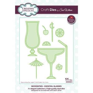 CREATIVE EXPRESSIONS und COUTURE CREATIONS Matrices de découpe, Cocktail Glasses