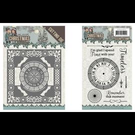 AMY DESIGN Stanzschablonen + Stempel: clock frame 13 x 13 cm