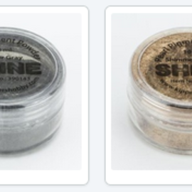 FARBE / MEDIA FLUID / MIXED MEDIA Glimmerpigmentpuder, Auswahl in 2 Farben, in 10 ml Verpackung