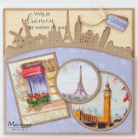 Joy!Crafts / Jeanine´s Art, Hobby Solutions Dies /  Snijmallen, Sjablonen, Around the world Border, CR1472 142 x 75.5 mm