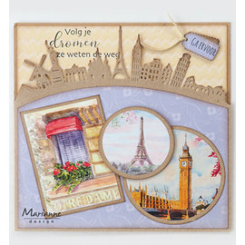 Joy!Crafts / Jeanine´s Art, Hobby Solutions Dies /  PUNCHING MODELLO Around the world Border, CR1472 142 x 75.5 mm