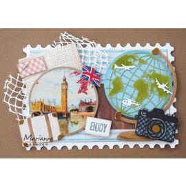 Marianne Design Stansning skabelon, Stansemal,  Globe, LR0606
