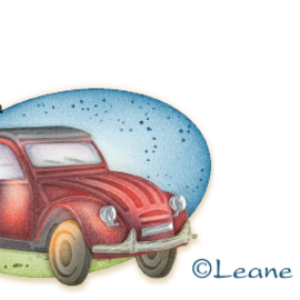 Leane Creatief - Lea'bilities und By Lene Stanzschablonen, Auto Ente