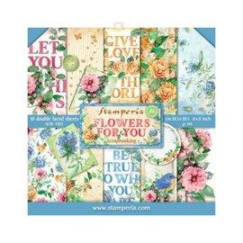 Stamperia: Scrapbooking Paperblock, blomster til dig