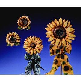 Modellieren Gießform Sonnenblumen 4 Blumen Gr. 6-12,5 cm