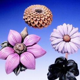 GIESSFORM / MOLDS ACCESOIRES Muffa Fiori Estivi 3 Fiori Gr. 8-13 cm
