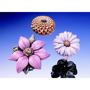 GIESSFORM / MOLDS ACCESOIRES Gießform Sommerblumen 3 Blumen Gr. 8-13 cm