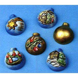 GIESSFORM / MOLDS ACCESOIRES Støbning 3-D miniature julekugler