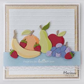 Marianne Design Stansning skabelon, Stansemal,  Marianne Design, Fruit, COL1469 15 pcs, 104 x 87.5 mm