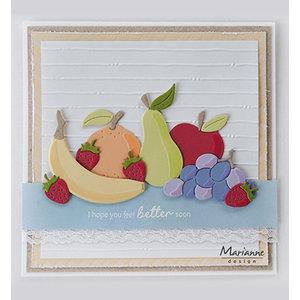 Marianne Design Matrices de découpe,  Marianne Design, Fruit, COL1469 15 pcs, 104 x 87.5 mm
