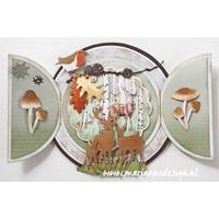 Cutting dies,  Marianne Design, Tiny's Deer Family, LR0615